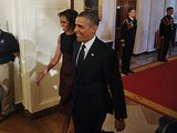 Michelle and Barack were adorable as they headed into the Presidential Medal of Freedom ceremony this November.  Be sure to check out the rest of our Best of 2013 coverage!