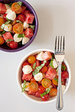 Easy: Watermelon Caprese Salad