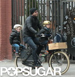 Liev Schreiber took his boys, Alexander and Samuel, for a bicycle ride in NYC.