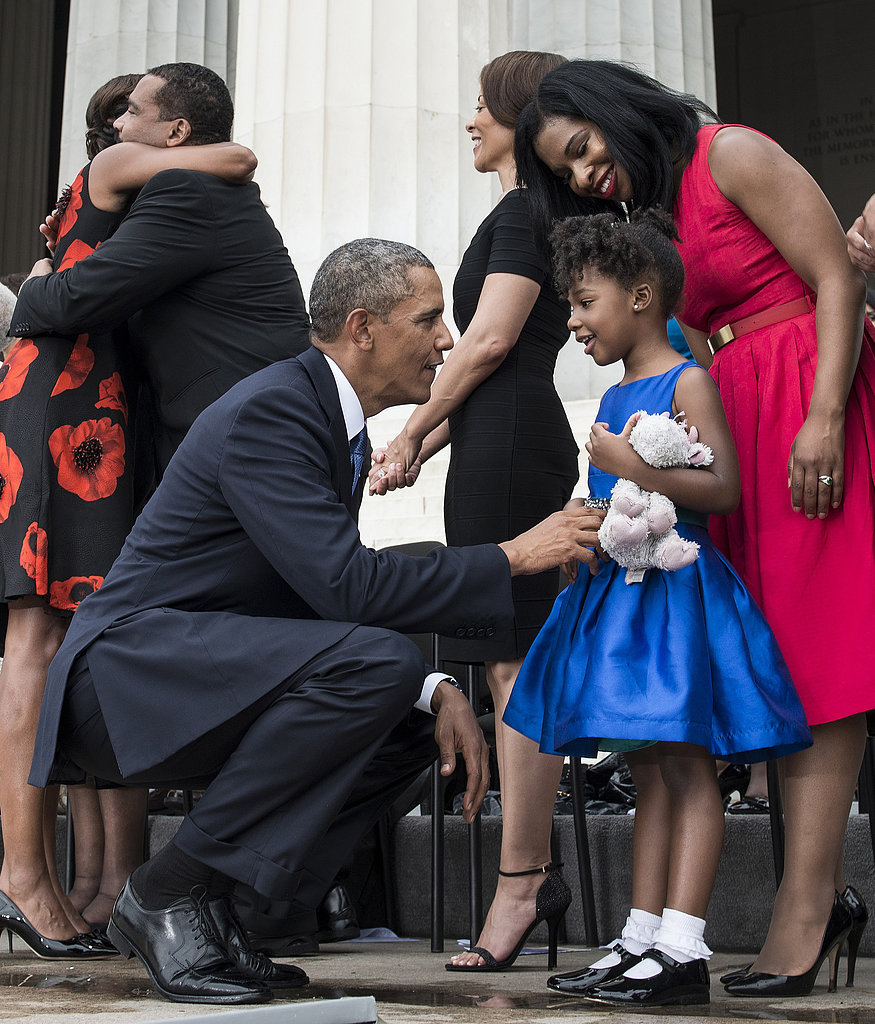 Obama Bonds With MLK's Granddaughter