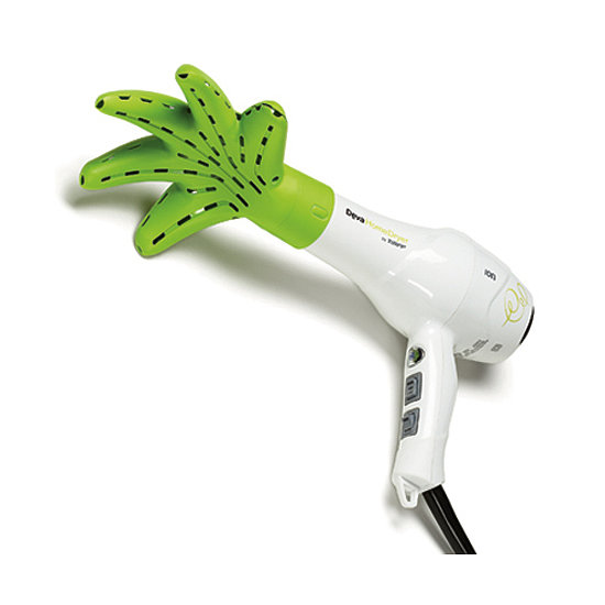 For women with curls, a diffuser is a must have, but there is no dryer out there quite as innovative as the Devacurl Dryer ($160). The hand-like attachment helps the heat reach curls all the way down to the scalp, cutting her styling time in half.