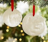 Pottery Barn Kids Baby Hand Print Ornaments