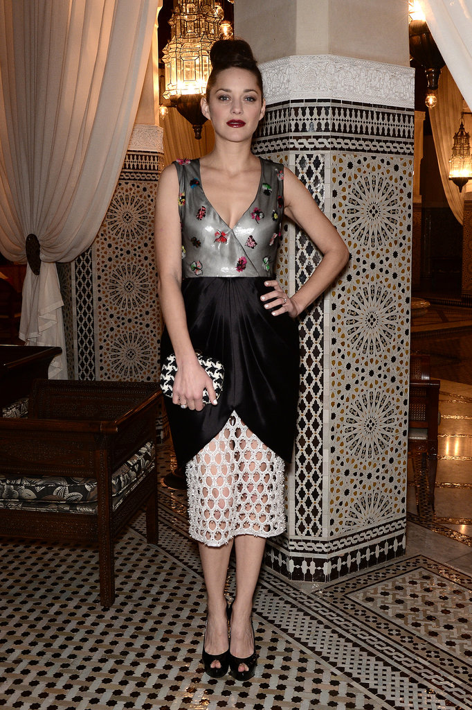 Marion Cotillard in Embellished Dior Dress