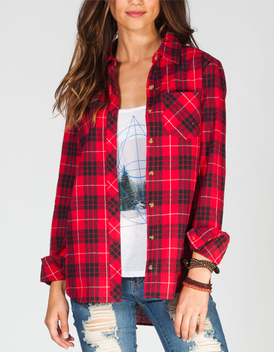 Plaid is a popular print for girls flannel shirts. Girls flannel shirts have a lot more to offer than just comfort. The cozy plaid shirts were part of the 's grunge fashion trend, but now they are making a comeback with fashionistas from coast-to-coast, thanks to their versatility and affordability.