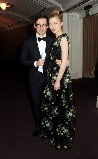 Erdem Moralioglu and Clémence Poésy at the British Fashion Awards.