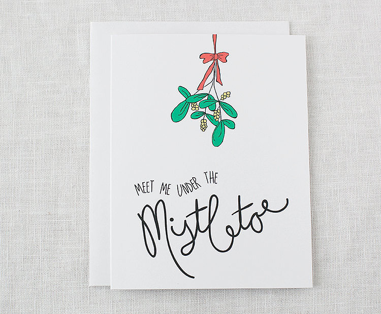 Meet me under the mistletoe ($4)