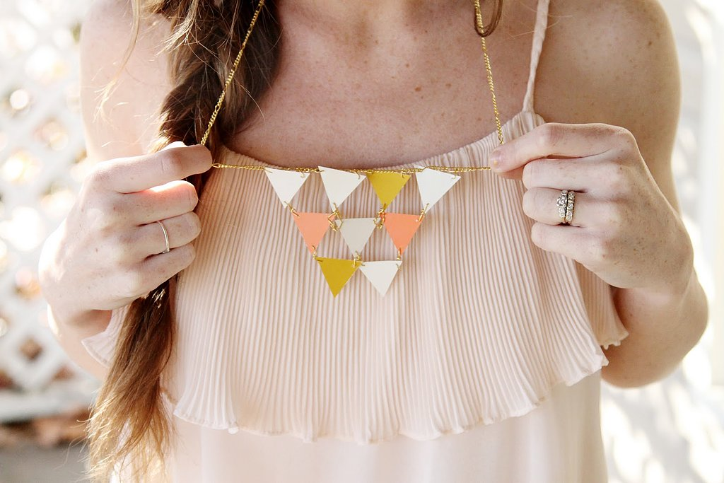 Paint-Chip Necklace