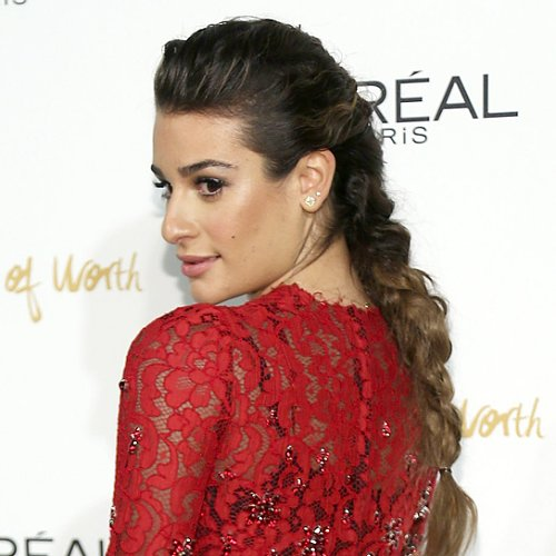 Lea Michele With a Braid at L'Oréal Paris Women of Worth
