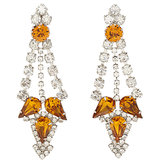Fenton Crystal Triple Point Earrings ($139, originally $240)