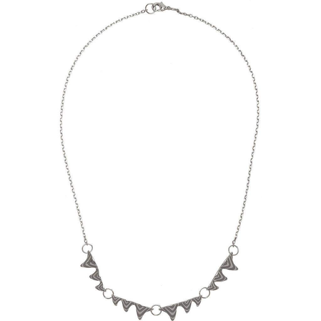 Dominic Jones White Gold & Enamel Fang Necklace ($109, originally $175)