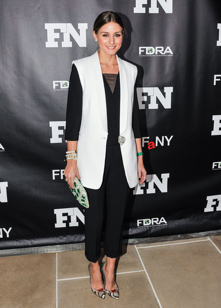 Olivia Palermo at the Footwear News Achievement Awards.