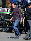 Jason Bateman jumped back into his Horrible Bosses 2 character on the set of the film's sequel in LA on Tuesday.