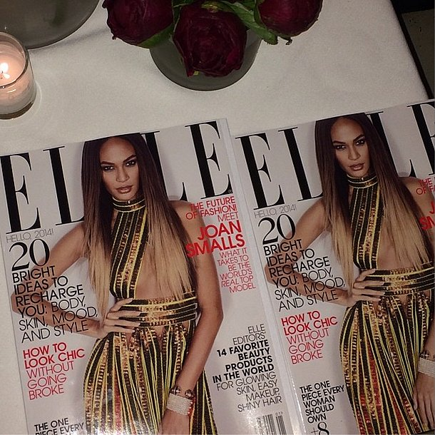 Joan Smalls gave us a sneak peek of her January Elle cover. Looking good! Source: Instagram user joansmalls