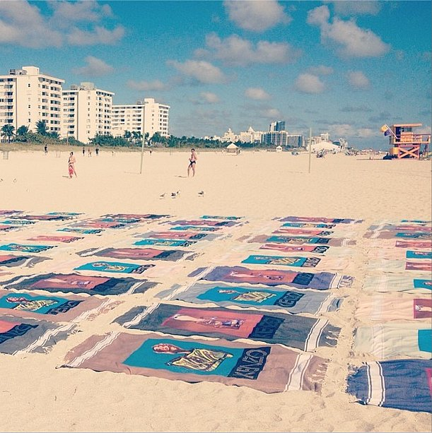 Kenzo took advantage of the sun and sand in Miami. Source:  Instagram user kenzo