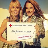 Heidi Klum and Alessandra Ambrosio joined forces for a good cause. Source: Instagram user heidiklum