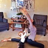Vivian Brady got a little yoga lesson from her yogi mom. Source: Instagram user giseleofficial