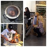 Britney Spears had a lion-bedecked helper on Thanksgiving. Source: Instagram user britneyspears