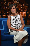 Though Kerry Washington has yet to confirm the news, sources close to the Scandal star reported in October that she and husband Nnamdi Asomugha are expecting their first child. She hid her bump while making an appearance on Late Night With Jimmy Fallon in October.