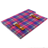 Plaid Tweed and Leather iPad Case