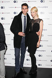 Gabe Saporta and Erin Fetherston at the Tommy Hilfiger and GQ Men of New York party.