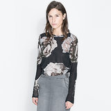 Zara's floral blouse ($30) is perfect for anybody wanting to get in on the grunge trend.
