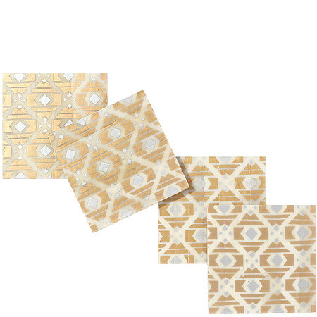 Since you can't go wrong with metallics, these gold bone coasters ($45) are a no-fail option!