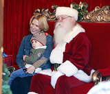 January Jones and her son Xander were all smiles with Santa in LA.
