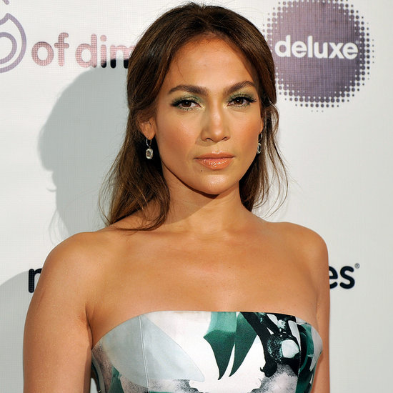 Jennifer Lopez in Floral, Strapless Dress | Pictures