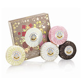 Give Roger & Gallet's Luxurious Pleasure soap set ($35) to the party host to make a lasting first impression. It features four miniature-size soaps, luxuriously scented with the Parisian perfume brand's Jean Marie Farina, Citron, Rose, and Bois d'Orange offerings.