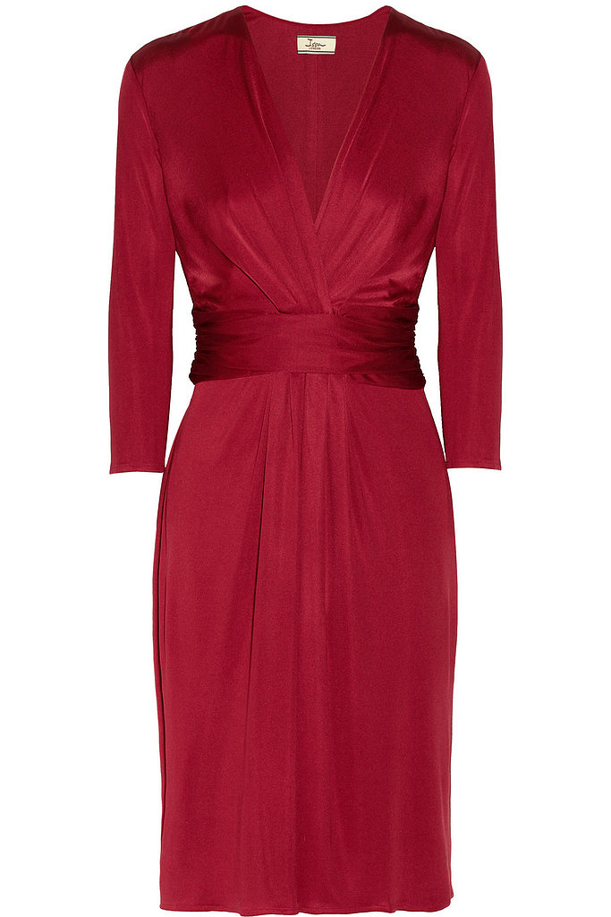 Issa Wrap-Effect Silk-Jersey Dress ($390, originally $650)