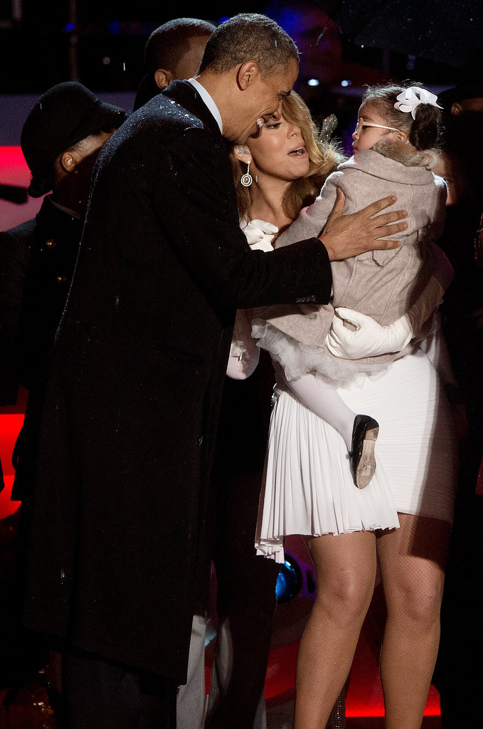 President Obama shared a sweet moment with Mariah Carey and her daughter, Monroe.