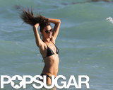 Alessandra Ambrosio took a dip in the water on Friday.