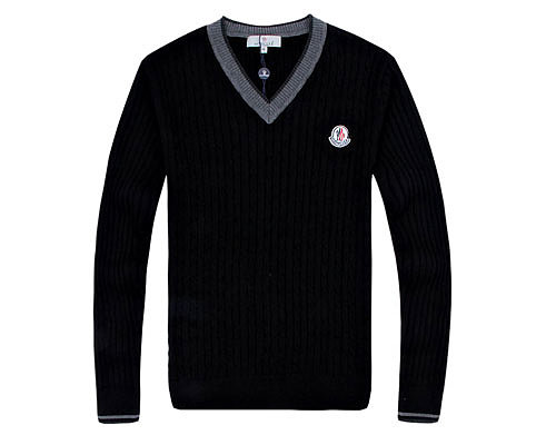 Moncler Mens Sweater College Grey Black