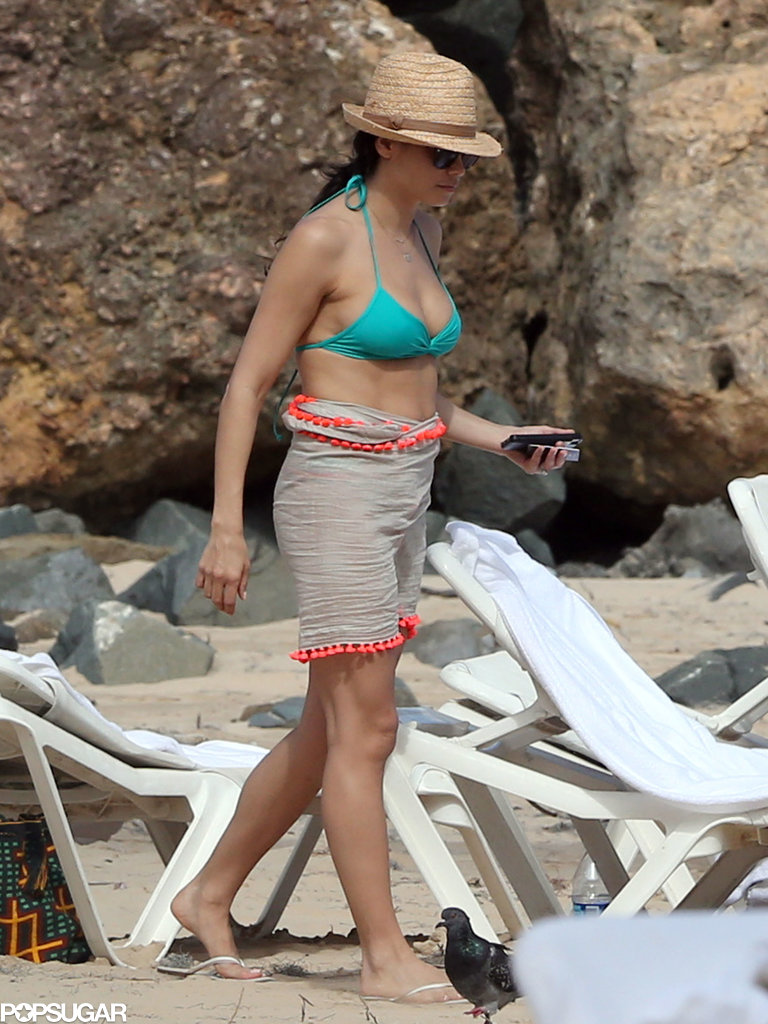 Jenna Dewan showed off her bikini body in Puerto Rico.
