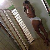 Kim Kardashian flaunted her figure after giving birth to North.  Source: Instagram user kimkardashian