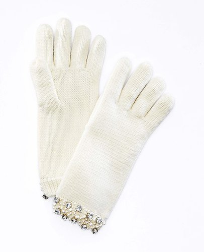 Pearlized Crystal Gloves