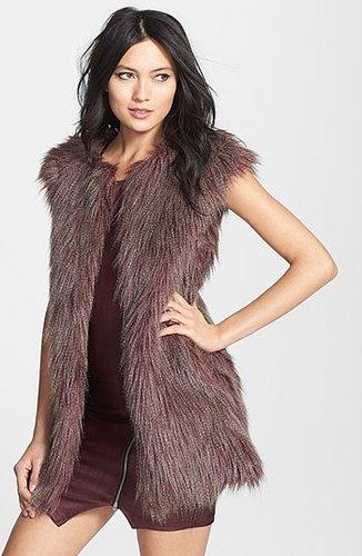 Romeo & Juliet Couture Faux Fur Vest
