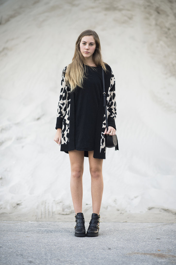 A bit of wild print brought this LBD to life. Source: Le 21ème | Adam Katz Sinding