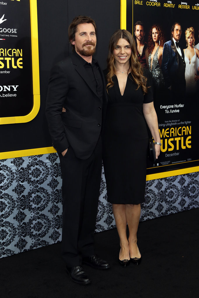 Christian Bale walked the black carpet with wife Sibi Blazic.
