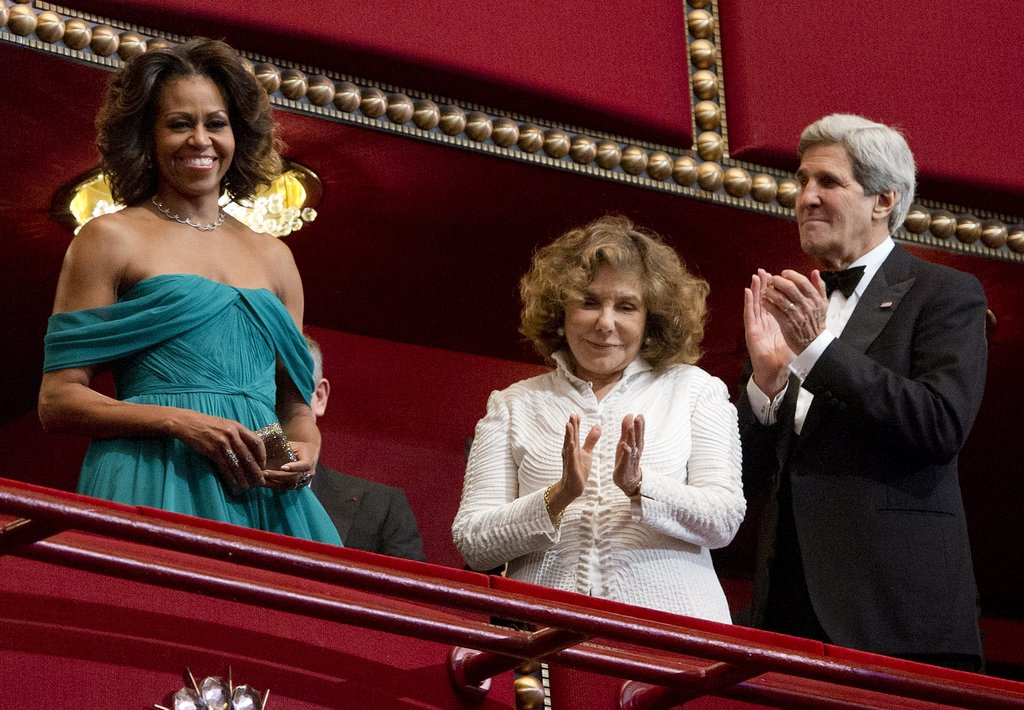 Michelle Obama stunned at the Kennedy Center Honors.