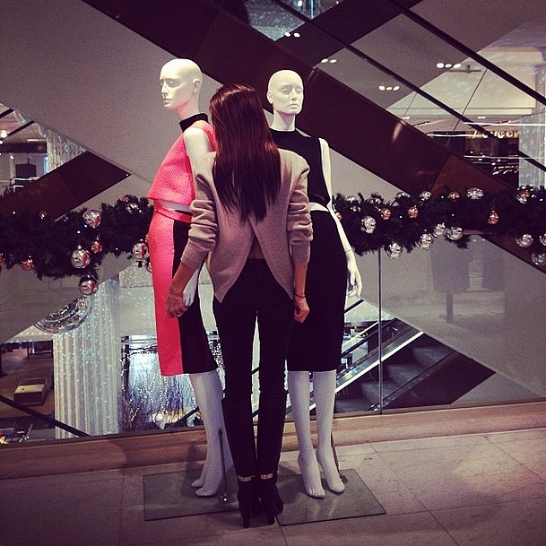 Victoria Beckham got up close and personal with her newest co-workers. Source: Instagram user victoriabeckham