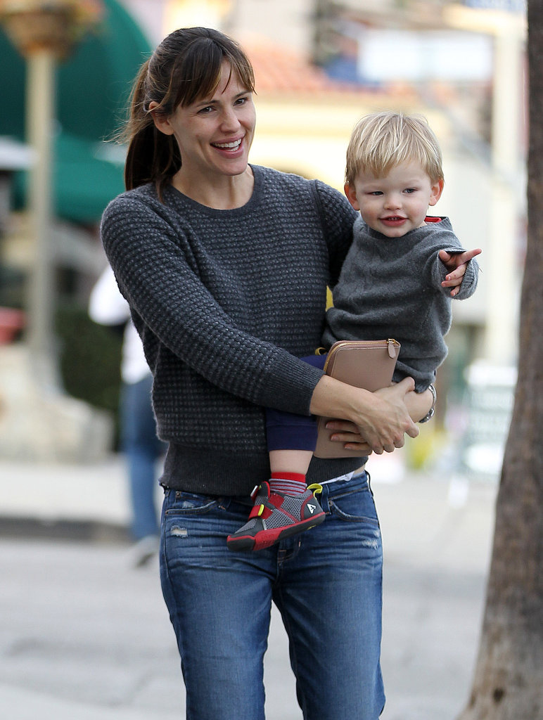 Jennifer Garner played at a park in LA on Sunday with baby Samuel.