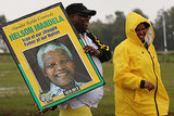 Members of the public walked toward the Nelson Mandela memorial service at the FNB Stadium.