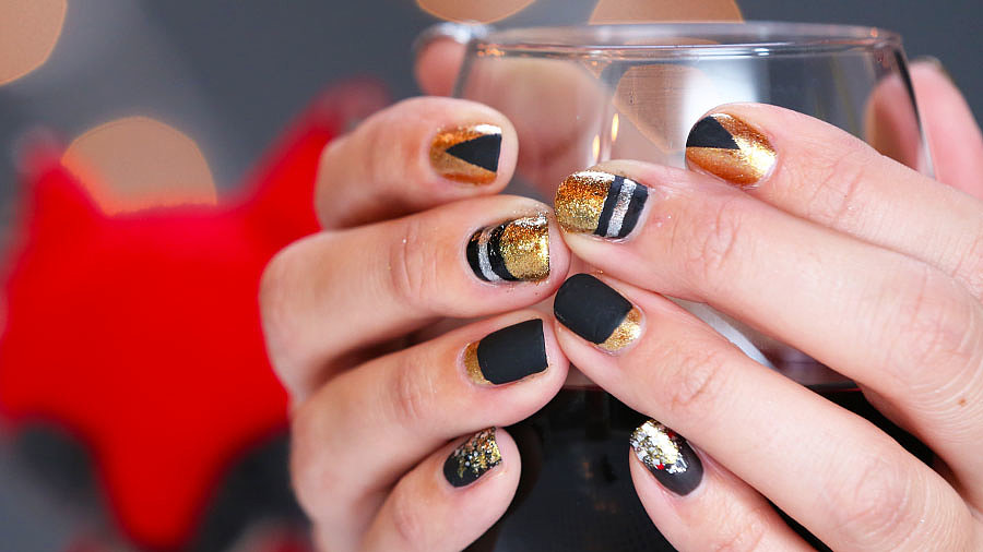 Holiday Nail Art Inspiration For the Metallic Crowd