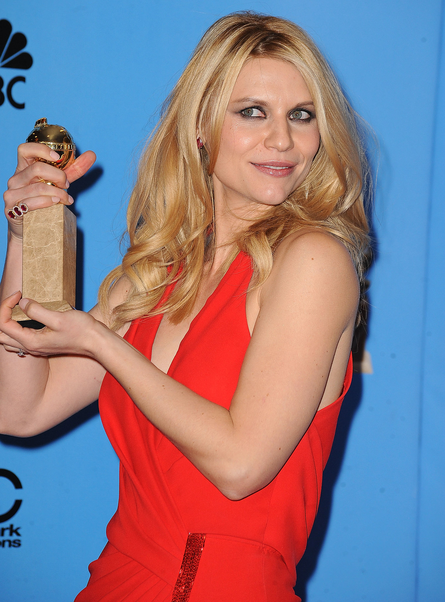 Claire Danes won the Golden Globe for best actress on a TV show, drama.