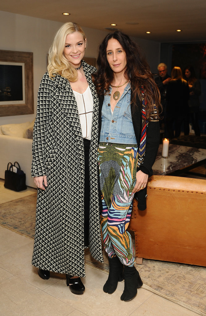 Jaime King and Mara Hoffman at a Parker party.