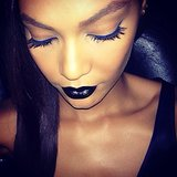 Joan Smalls showed how to pull off goth-glam makeup at the amfAR gala. Source: Instagram user joansmalls