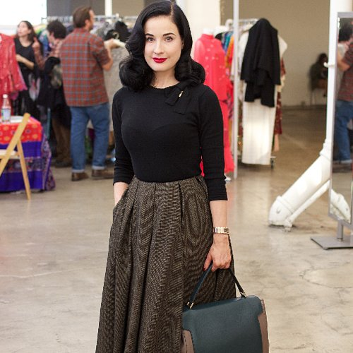 Dita Von Teese Vintage Shopping at A Current Affair