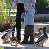 Jennifer Garner and Samuel Affleck Feeding Ducks
