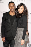 The engaged Big Sean and Naya Rivera coordinated their ensembles for the event.